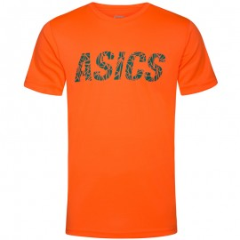 Tee-Shirt Graphic Orange Entrainement Homme Asics