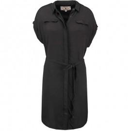 Robe Texturée Noir Femme Garcia Jeans