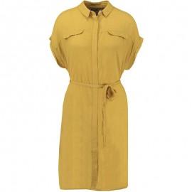 Robe Texturée Jaune Femme Garcia Jeans
