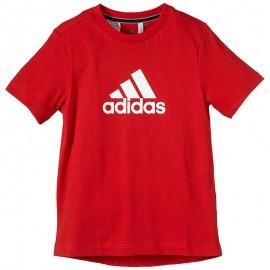 Tee-shirt Sport Garçon Rouge Adidas