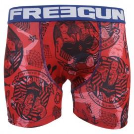 Boxer Rouge Garçon Freegun