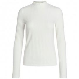 Tee-shirt Camy Col montant Ecru Femme Pieces