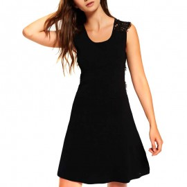 Robe Alina Lace Noir Femme Superdry