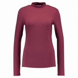 Tee-shirt Sirena Col montant Bordeaux Femme Pieces