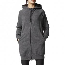 Sweat Long Zippé Gris Femme Adidas