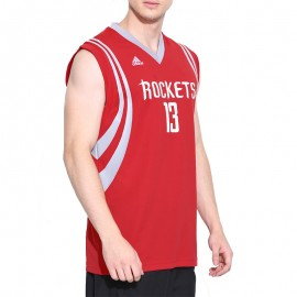 Maillot Replica J. Harden Rockets Basketball Rouge Homme Adidas