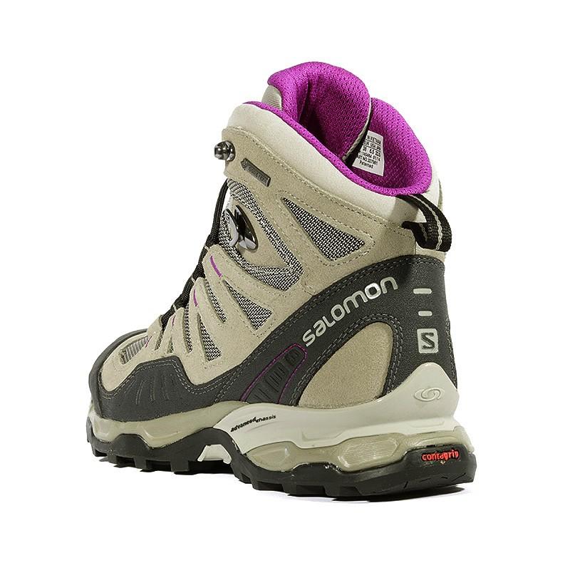 sale retailer debe4 1f302 Femme Chaussures Conquest Gtx Beige Salomon Noir Randonnée rOXOwTPq