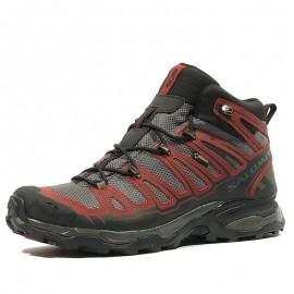 X Ultra MID GTX Chaussures Randonnée Homme Gris Rouge