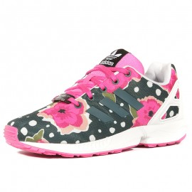 ZX Flux Chaussures Fille Rose