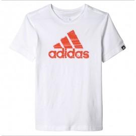 Summer Logo Garçon Tee-shirt Blanc