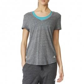 Logo V Femme Tee-shirt Gris
