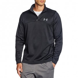 Polaire Homme Sweat 1/4 Zip Sport Noir
