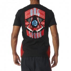 Rose Onespark Homme Tee-shirt Basketball Noir