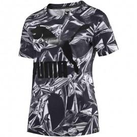 AOP Femme Tee-shirt Noir