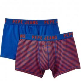 Dillon Homme Pack 2 Boxers Bleu