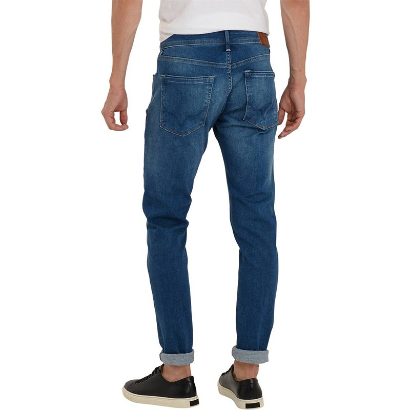 stanley jean taper homme bleu. Black Bedroom Furniture Sets. Home Design Ideas