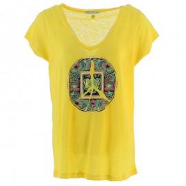 Tibi Lin Femme Tee-shirt Jaune