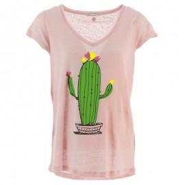 Tibi Lin Femme Tee-shirt Rose