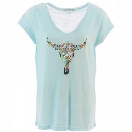 Tibi Lin Femme Tee-shirt Bleu