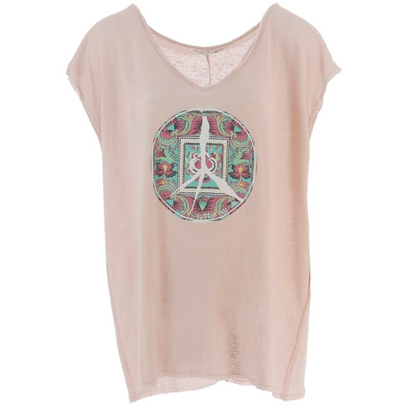sale online so cheap reliable quality Tisco Lin Femme Tee-shirt Rose