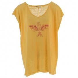 Tisco Lin Femme Tee-shirt  Jaune
