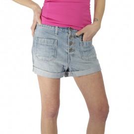 Kerouac Femme Short Jean Bleu