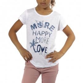 Tee-shirt Fille Blanc