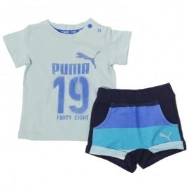 Minicats Bébé Garçon Tee-shirt + Short Bleu