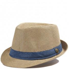 Trilby Femme Chapeau Ajustable Marron