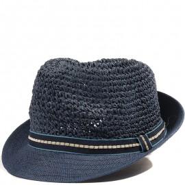 Trilby Femme Chapeau Ajustable Bleu