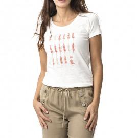 Gevertee Femme  Tee-shirt Blanc
