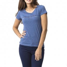 Gevertee Femme  Tee-shirt Bleu