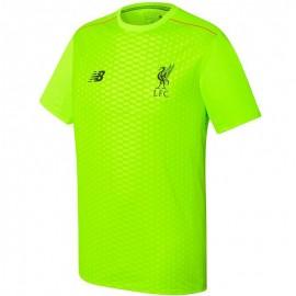 FC Liverpool Garçon Maillot Football Vert fluo