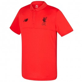 FC Liverpool Homme Polo Football Orange fluo