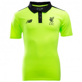 FC Liverpool Homme Polo Football Jaune fluo