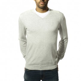 New Justin Homme Pull Gris