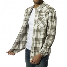 Classic Western Homme Chemise Gris