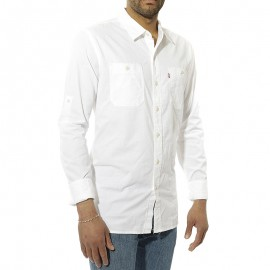 Classic Workshirt Roll Homme Chemise Blanc