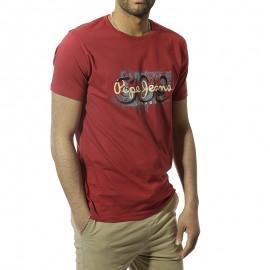Alnus Homme Tee-Shirt Rouge