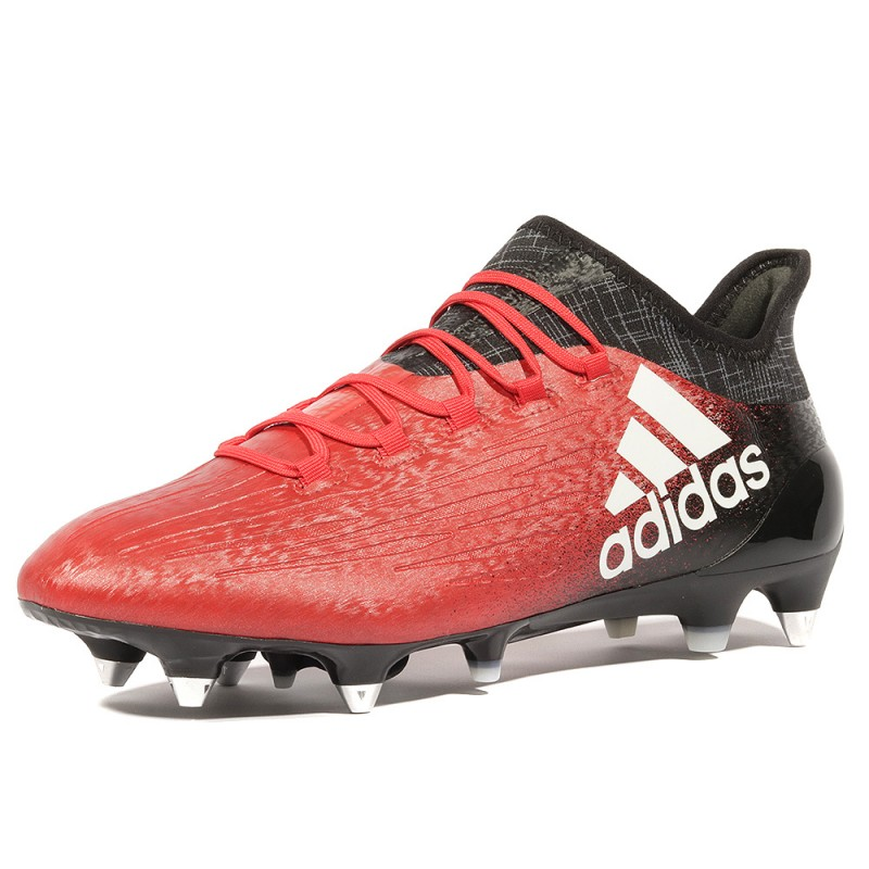 X 16.1 SG Homme Chaussures Football Rouge Noir