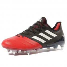 X 17.1 Leather SG Homme Chaussures Football Rouge Noir