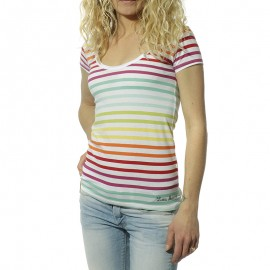 Lime Femme Tee-Shirt Multicolores