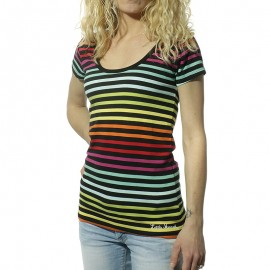 Lime Femme Tee-Shirt Multicolore