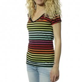 Alexina Femme Tee-shirt Multicolore.