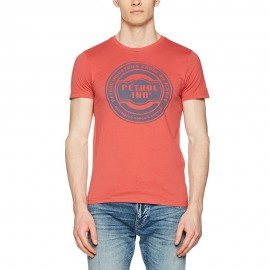 R-Neck Homme Tee-shirt  Rouge