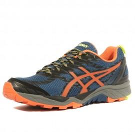 Gel Fujitrabuco 5 Homme Chaussures Trail Bleu Orange