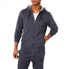 Hooded Homme Sweat Bleu