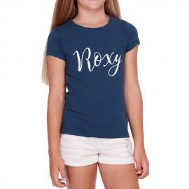 Ergz Enfant Fille Tee-Shirt Marine
