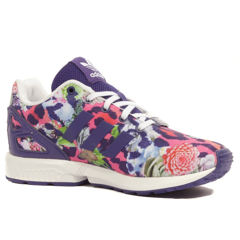 ZX Flux Fille Chaussures Violet Rose Adidas