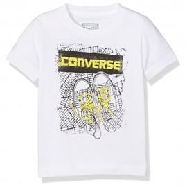 Bk Map Garçon Tee-Shirt Blanc Converse